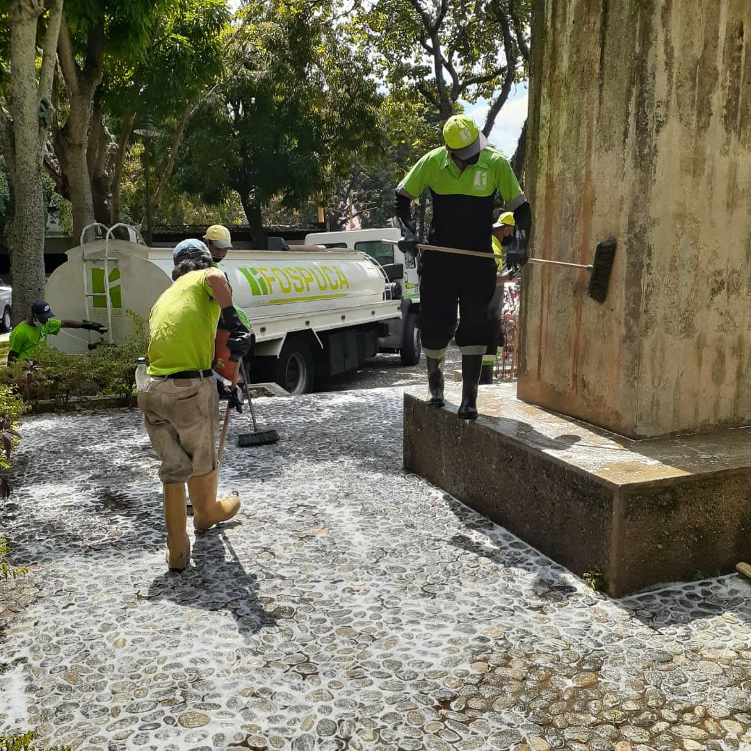 José Simón Elarba- Fospuca sigue llevando limpieza a espacios públicos con sus operativos especiales